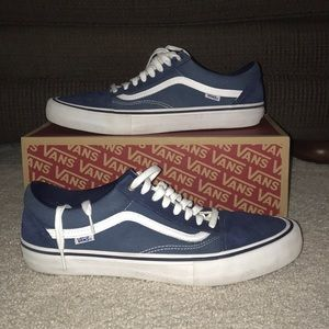 Blue vans old skool pro shoes